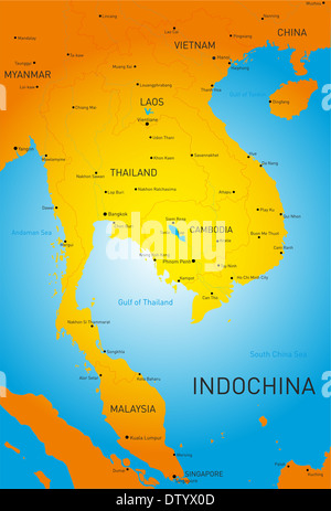 Indochina - Stock Photo