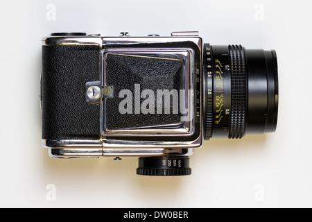 Vintage kiev 88 6x6 medium format camera top view - Stock Photo