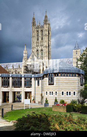 canterbury city centre and cathedral from the air kent. Black Bedroom Furniture Sets. Home Design Ideas