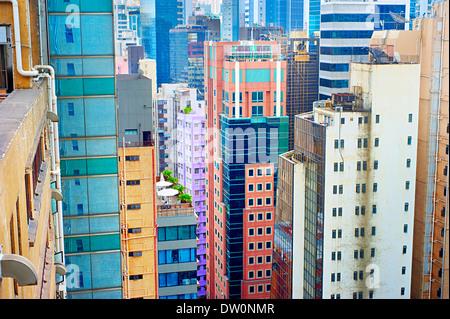 Housing problem in Hong Kong. - Stock Photo