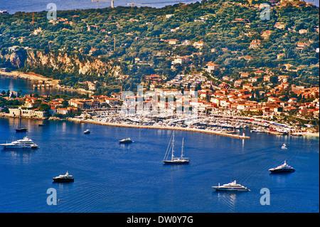 Europe, France, Alpes-Maritimes. Saint-Jean-Cap-Ferrat. - Stock Photo