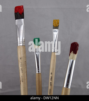 ART PAINT BRUSHES - Stock Photo