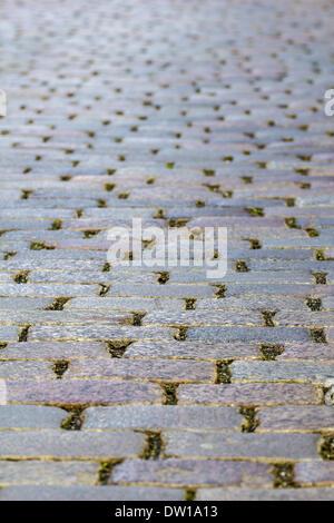 Cobble-stone pavement - Stock Photo