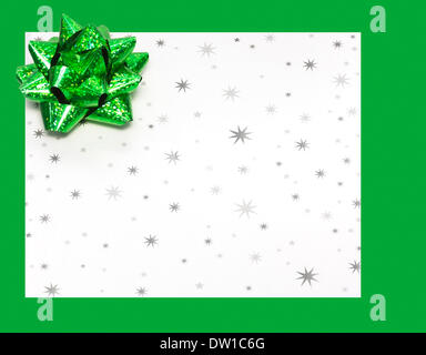 Gift letter on holidays with bow - Stock Photo