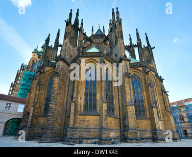 St. Vitus Cathedral , Prague, Czech Republic - Stock Photo
