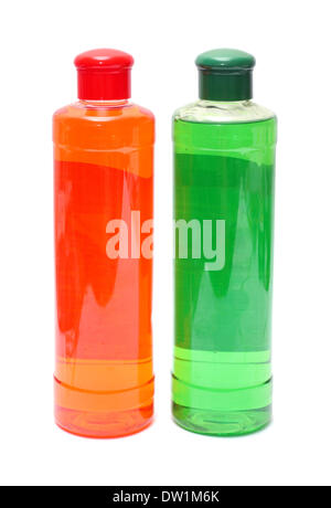 two bottles with shampoo - Stock Photo