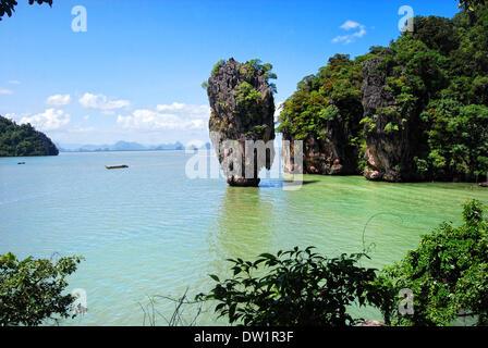 james bond island in thailand - Stock Photo