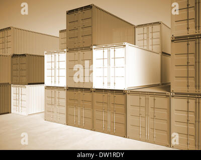 3d container background - Stock Photo