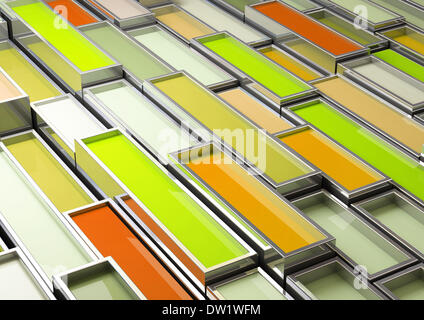 fine image 3d of chrome tank with green paint - Stock Photo