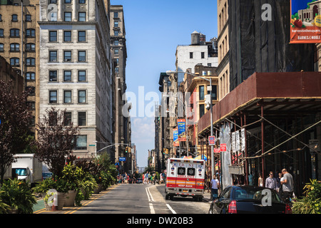 On 7th Avenue near the Union park in New York, USA - Stock Photo