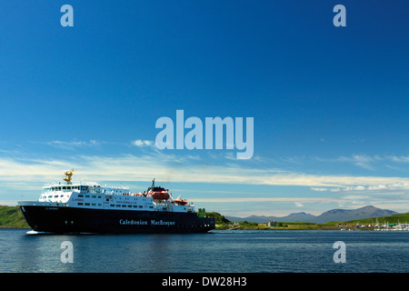 Caledonian MacBrayne Ferry and Mull from Oban - Stock Photo