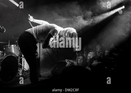 Brody Dalle first solo intimate gig in London NME Black & white - Stock Photo