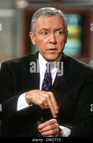 Senator Orrin Hatch on NBC's show Meet the Press March 1, 1998 in Washington, DC. - Stock Photo