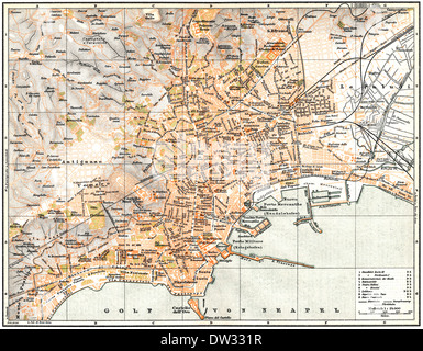Naples map (Italy Stock Photo: 161959188 - Alamy