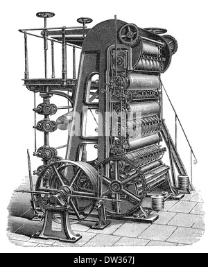 Paper Making Machine | ClipArt ETC |Old Papermaking Technology