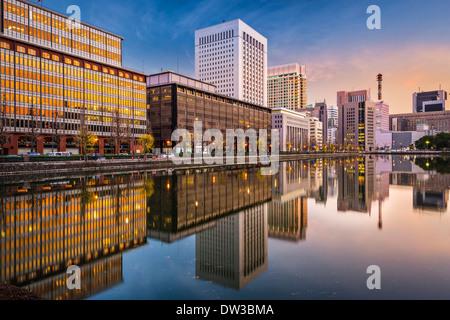 Tokyo, Japan cityscape at Marunouchi business district. - Stock Photo