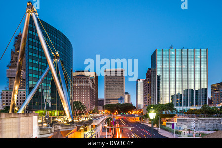 Hartford, Connecticut, USA downtown cityscape at dawn. - Stock Photo