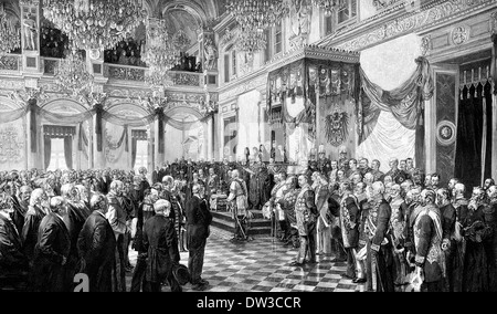 The opening of the German Reichstag, Emperor Wilhelm II., 1888, Berlin, Germany - Stock Photo