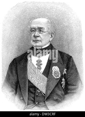Alexander Mikhailovich Gorchakov, 1798 - 1883, Russian statesman, diplomat, chancellor of the Russian Empire, - Stock Photo