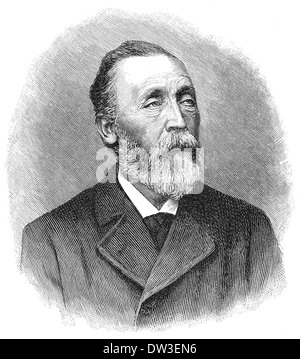 Ernst Heinrich Wilhelm von Stephan, 1831-1897, postmaster general of the German Reich, organiser of the German postal - Stock Photo