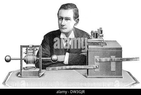 Guglielmo Marconi, 1st Marquis of Marconi, 1874 - 1937, Italian inventor and electrical engineer, inventor of radio, - Stock Photo