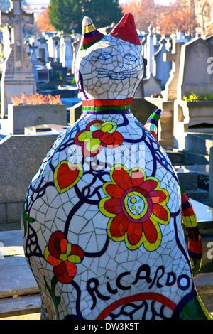 Niki de Saint Phalle's Creation For The Tomb Of Her Assistant Ricardo Menon, Montparnasse Cemetery, Montparnasse, - Stock Photo