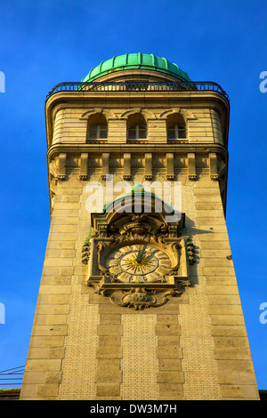 Clock Tower At Rue Saint Jacques, Paris, France, Western Europe. - Stock Photo