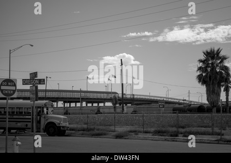 Paso Del Norte Port of Entry Crossing in El Paso, Texas - Stock Photo