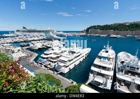 Marina in Monte Carlo, Monaco - Stock Photo