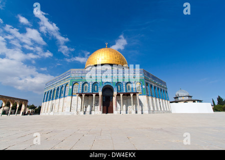 The Dome of the Rock on the Temple Mount , Jerusalem, Israel - Stock Photo