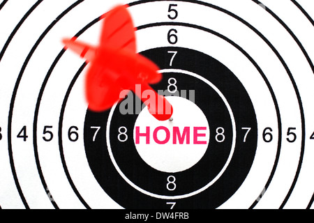 Home text on target - Stock Photo