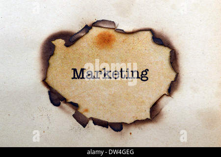Marketing text on paper hole - Stock Photo
