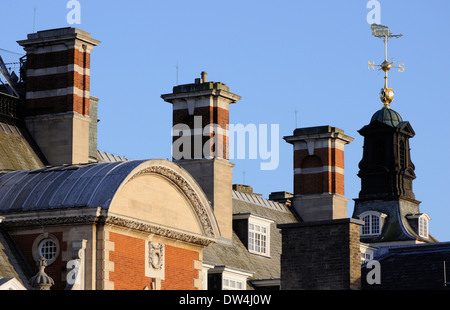 The top of the Cedar Court Grand Hotel (formerly the HQ of the British Railways Eastern Region), York - Stock Photo