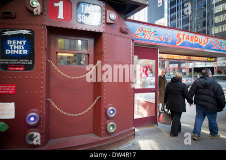 Ellen's Stardust Diner is a retro 1950s theme restaurant located at 1650 Broadway - Stock Photo