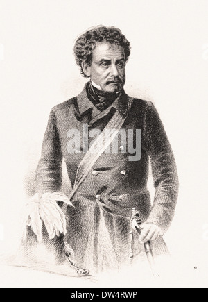 Portrait of Sir Colin Campbell (Lord Clyde) - American engraving XIX th century - Stock Photo