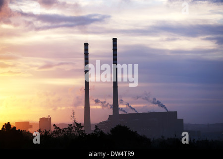 Thermoelectric power plant in Sines, Portugal - Stock Photo