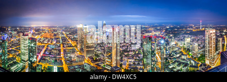 Frankfurt, Germany city skyline panorama. - Stock Photo
