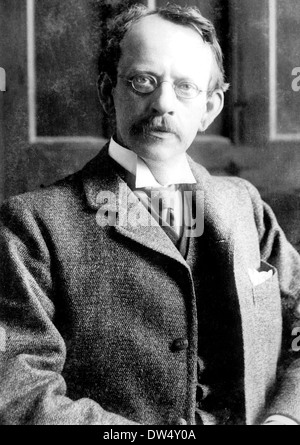 J.J.THOMSON - Joseph John Thomson - (1856-1940) English physicist about 1912 - Stock Photo