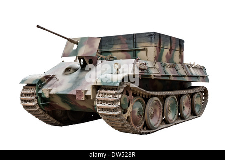 A cut out of a Bergepanther armored recovery vehicle (Sd.Kfz.179) used by Nazi German forces during WW2 - Stock Photo