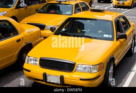 Yellow taxi, New York City - Stock Photo