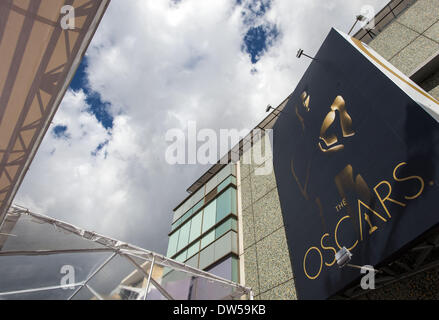 Hollywood, USA. 27th Feb, 2014. Preparations for the Oscars scheduled for Sunday March 2, 2014, continued on Thursday - Stock Photo