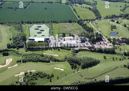 aerial view of Woolston Manor Golf & Country Club in Essex - Stock Photo