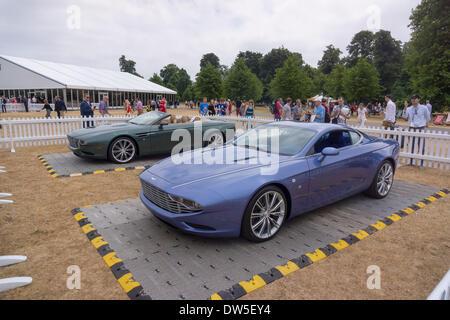 Aston Martin DBS COUPE ZAGATO CENTENNIAL (2013), Aston Martin Timeline, Centenary Celebration 2013, 100 years Aston - Stock Photo