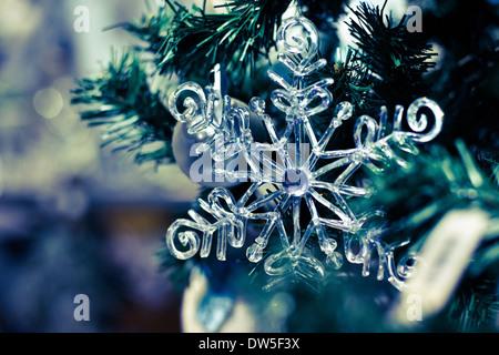 snowflake, christmas background - Stock Photo