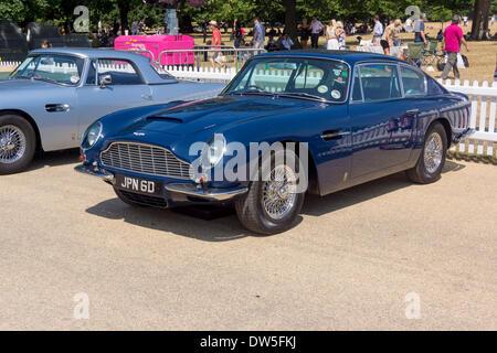 Aston Martin DB6 MKII SALOON (1969-1970), Aston Martin Timeline, Centenary Celebration 2013, 100 years Aston Martin, - Stock Photo