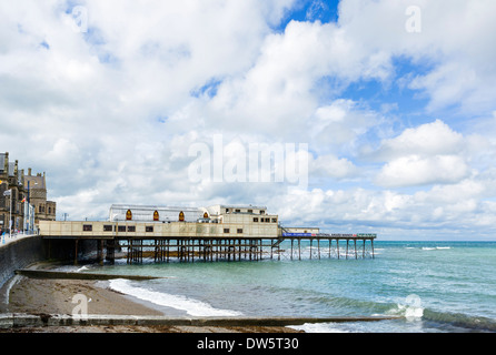 The Royal Pier at Aberystwyth, Ceredigion, Wales, UK - Stock Photo