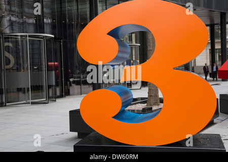'One Through Zero (The Ten Numbers)' by American pop artist Robert Indiana (b 1928), in Lime Street, City of London, - Stock Photo
