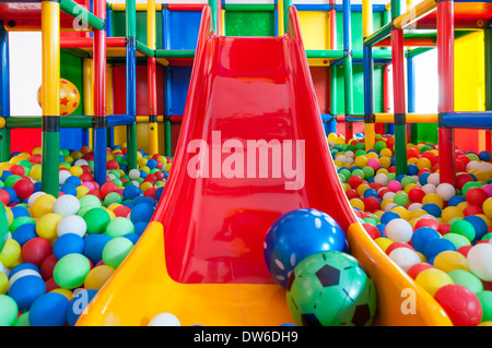 A ball pen at a kindergarten or daycare. - Stock Photo