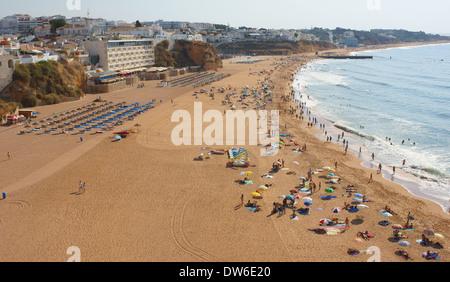 Beach in Albufeira Algarve Portugal - Stock Photo