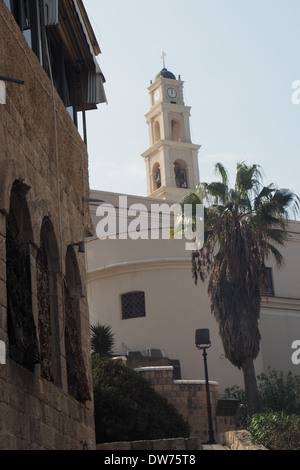 Tower of St Peter's Church, Jaffa, Tel Aviv, Israel - Stock Photo